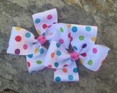 Polka Dot Hair Bows-Ready to Ship
