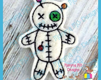 Voodoo Doll Feltie Machine Embroidery Design