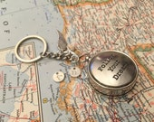Compass Keychain Follow Your Dreams Boyfriend Gift Husband Gift