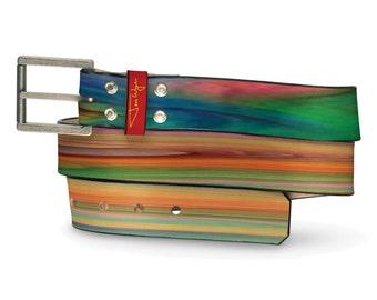 Valhalla Leather Belt, Norse Leather Belt, Thor Belt, Hero Leather Belt, Colorful