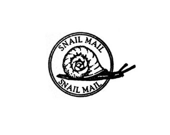 Snail Mail Postal cancellation Rubber Stamp