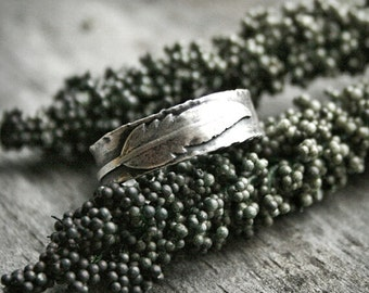 Sterling Silver Feather Ring - Handcrafted Ring -  Nature Ring -  Rustic Jewellery - Southwestern - Sterling Feather Ring - Gifts for Her