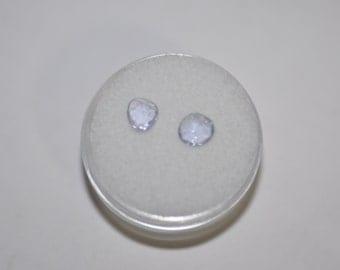 Rose Cut Blue Sapphire Pair