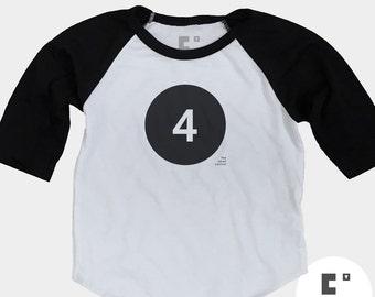 4th Birthday Shirt - Raglan
