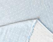 Japanese Fabric Kokochi Double gauze - reversible dots - BL -  50cm