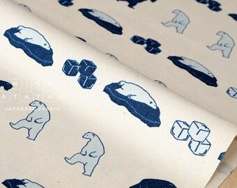 Japanese Fabric Polar Fight - blue, cream - fat quarter