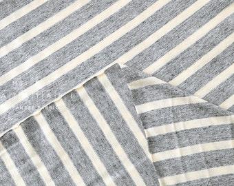 Japanese Fabric Jersey Knit Stripes - grey - 50cm