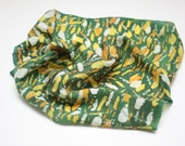 Gentleman's Delight- Green, yellow, orange and white Pocket Square