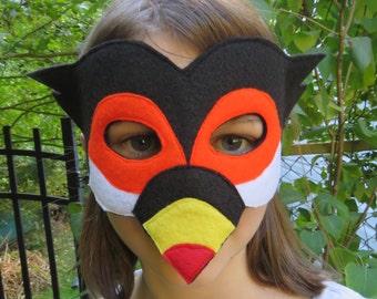 Toucan Mask - Bird Mask - Tropical Bird Costume - Rain Forest Animal - Exotic Bird - Masquerade