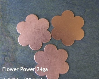 LARGE size - Daisy Shaped Copper Stamping Blanks for Charms, Tags or Embellishments