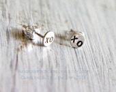 40% OFF CLEARANCE Ready to Ship - xo xo - teeny weeny sterling silver post earrings / studs - stocking stuffer - x o x o - valentine