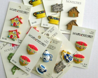 Decorative Buttons - Novelty Buttons - Buttons for Sewing - Buttons for Crafts - DIY Supplies - Price Reduced - Clearance Sale