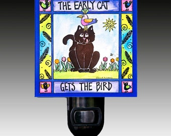 The Early Cat Night Light