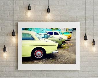 Vintage Volvo Photo // Classic Car Photo // Volvo 122 // P1800 // Station Wagon // Urban Decor