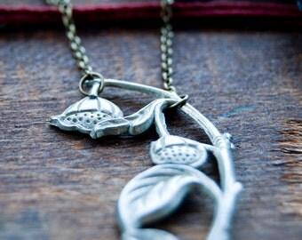 Morning Dew Bell Flower Vintage Necklace