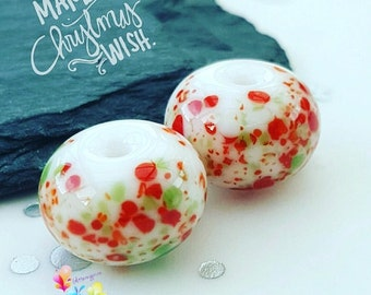 Lampwork Beads Festive Christmas Fritties