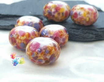 Lampwork Glass Beads Carousel Fritties