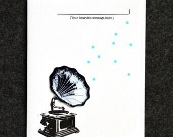 Phonograph greeting