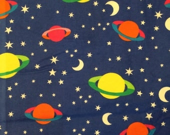 Outer space flannel etsy for Space flannel fabric