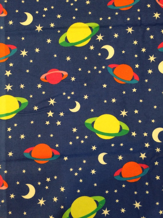 Flannel cotton fabric outer space fabric from for Space flannel fabric
