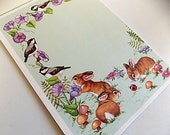 Vintage Sunny Bunnies Seal and Send Letters