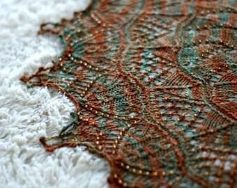 Lightning Thief Knitting Shawl Pattern in PDF