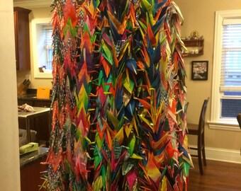 1000 Cranes - Multi-color origami
