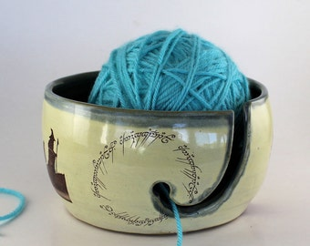 Lord of the Rings Ceramic Yarn Bowl - IN STOCK