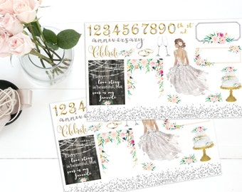 Anniversary planner stickers, *Choice of skintone * ECLP, Kate Spade, KikkiK, Filofax, Midori, Fauxdori