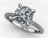 Private Listing for Bryan  - shay ring - 1.4 carat amora gem engagement ring, platinum