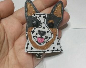 Blue Heeler Badge Reel,Blue Heeler Badge Card Holder,Blue Heeler,ID Holder,Australian Cattle Dog,Name Badge Holder,Badge Reel,Retractable