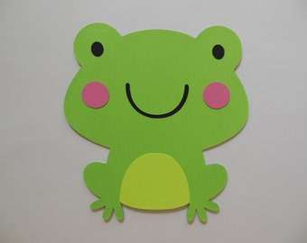 Frog Cutouts - Birthday Party Decoration - Baby Shower Decorations - Gender Neutral - Set of 1