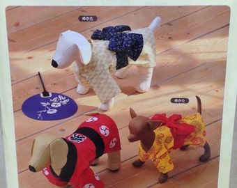 Cute Kimono Yukata and Jacket for Small Dogs with  Full-Size Pattern Sheet
