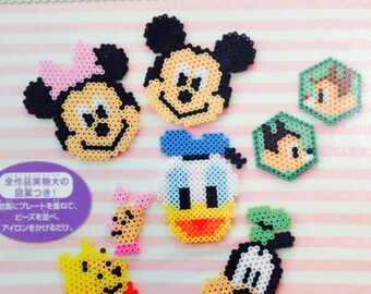 Disney Chracters Made with Iron Beads  - Japanese Bead Book