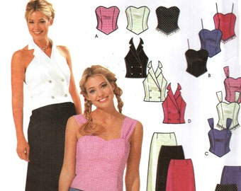 Simplicity 7101 Strapless HALTER TOPS & SKIRT Junior Sizes 3/4 - 15/16 ©2002 English Spanish Espanol Instructions