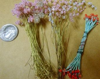 Vintage tiny beaded flowers