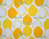 CLEARANCE 1 Yard Alexander Henry's Juicy Yellow Lemon fabric