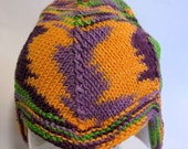 Baby/toddler hat, Mardi Gras Camo. A cotton and bamboo blend, machine washable.