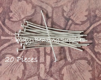 10 Sterling Silver 1.5  Inch 20 Gauge (thick) Headpins