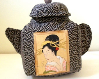 Geisha Teapot Bag Teabag Holder