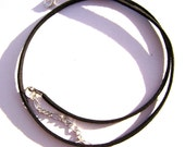 Cord Necklace Choker Faux Vegan Leather Suede Black, ALL SIZES, 1 or 5 Qty