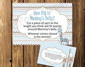 Printable Giraffe Boy Baby Shower How Big is Mommy's Belly Game - Instant Download