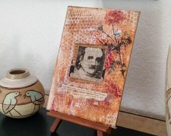Edgar Allan Poe ORIGINAL Collage Art Annabel Lee