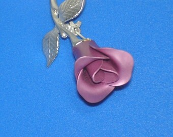Vintage Avon Single Pink Rose Pin Brooch