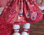 LittleFee YoSD Tiny BJD Care Bear Skirt by Tickled Pink by Julie