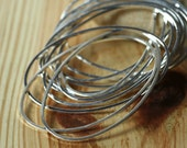 Silver plated on brass oval link 45x28mm, 1mm thick, 6 pcs (item ID YWFA00723BDE)