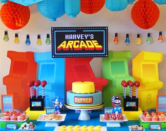 ARCADE Party DELUXE Package - DIY Printable - Customised PDFs