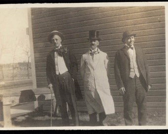 1918 Silver Lake WAshington 3 Teachers in Costume Vintage SNapshot