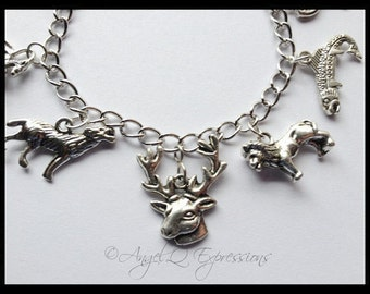 The Rise of Houses Game of Thrones A Song of Ice and Fire Tully Stark Baratheon Lannister Targaryen Charm Bracelet
