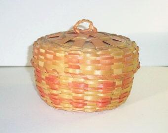 Small Vintage Covered Basket